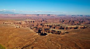 Monument Basin from Grand View Point, Canyonlands Stock Photography