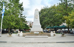 Monument of the Battle of Navarino at the Three Admirals square Pylos Peloponnese greece Royalty Free Stock Photo