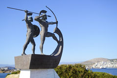 Monument of the battle of Salamis Royalty Free Stock Photo