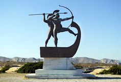 Monument of the battle of Salamis Stock Images