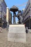 Monument `The Bear and the Strawberry Tree`, Madrid Stock Photography