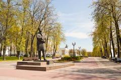 Monument for belarusian poet  Maksim Bahdanovich in Minsk Royalty Free Stock Photos