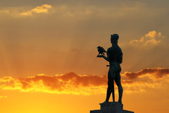 Monument of Belgrade winner. With sunset sky Stock Photo