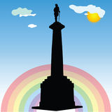 Monument of Belgrade winner vector silhouette Royalty Free Stock Photo