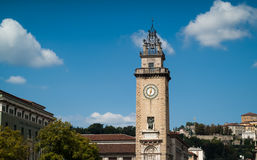 Monument in Bergamo Royalty Free Stock Photography