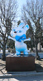Monument big doll hare - symbol of the Olympic Games in Sochi 2014 Stock Image