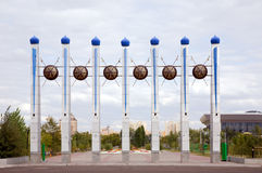 Monument bij Astana parkingang stock fotografie