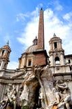 Monument bij het Pantheon Stock Afbeeldingen