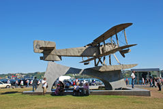 Monument of the biplane,  Lisbon, Portugal Stock Images