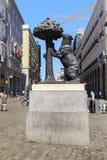Monument` björnen och `en för jordgubbeträd, Madrid Arkivbild
