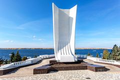 Monument Boat in the form of a ship royalty free stock photos
