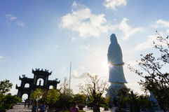 Monument of Bodhisattva on the hill, Da Nang, Viet Nam Stock Photography