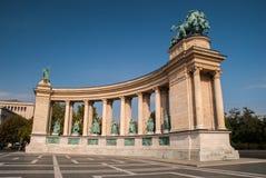 Monument in Boedapest, Hongarije Stock Foto's