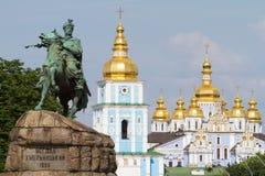 Monument of Bogdan Khmelnitsky Stock Photo