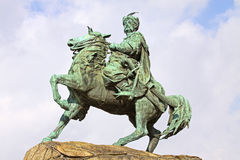 Monument of Bohdan Khmelnytsky in Kyiv, Ukraine. Monument of Bohdan Khmelnytsky, the Hetman of Ukrainian Zaporozhian Cossacks, on Sofia square in Kyiv, Ukraine stock photo