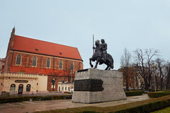 Monument of Boleslaw I the Brave in Wroclaw Royalty Free Stock Photography