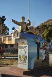 Monument Bolivian naval don Eduardo Avaroa in San Pablo. Royalty Free Stock Image