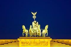 Monument on Brandenburg gate. In Berlin Stock Photo