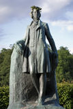 Monument in bronze. Djurgården Stockholm Statue Stock Photography