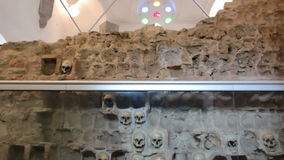 Monument built of human skulls-Unique in the world. Nisch,Serbia;7/9/2015.Monument from the First Serbian Uprising 1809. which was in retaliation by the Turkish stock video footage