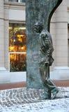 Monument Bulat Okudzhava on Arbat Street in Moscow.  Royalty Free Stock Image