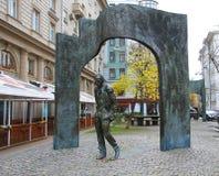 Monument of Bulat Okudzhava on the Arbat street, Moscow. The Monument of Bulat Okudzhava on the Arbat street, Moscow, Russian Federation Stock Photography