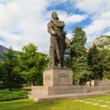 The monument of Bulgarian national hero Hristo Botev in Vratza royalty free stock photos