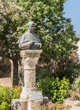 A monument, a bust of Pope Paul VI on Mount Tabor Stock Image