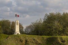 Monument Butte de Vauquois Frankrike Arkivfoton