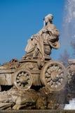 Monument célèbre de Fuente de Cibeles à Madrid Photographie stock libre de droits