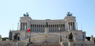 Monument called Vittoriano dedicated to Vittorio Emanuele II Kin Royalty Free Stock Image
