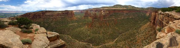 Monument Canyon, Colorada National Park. Colorado - near Grand Junction royalty free stock image