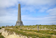 The Monument on Cap Blanc Nez. (Cape White Nose) near Wissant city at Nord-Pas-de-Calais region, France Stock Photo