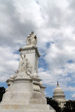 Monument, capitol and puffy clouds Royalty Free Stock Photos