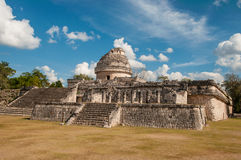 The monument Caracol at Chichen Itza on the Yucata Stock Images