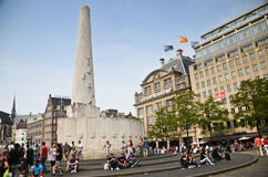 Monument carré de barrage image stock