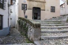 Monument Casa de Porras,El Albaicin, traditional neighborhood i. N Granada, Spain royalty free stock images