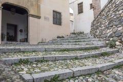 Monument Casa de Porras,El Albaicin, traditional neighborhood i. N Granada, Spain royalty free stock photography