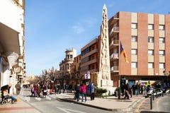Monument of castells in Valls Stock Photos