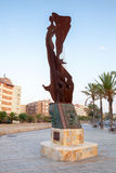 Monument a Catalunya. Embankment of Calafell Stock Image