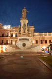 The monument of the Catherine II the Great. In Odessa in backlight at night Stock Image
