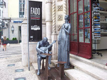 Monument celebrating Fado in Lisbon, Portugal Stock Photography