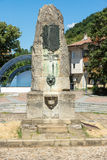 The monument on the central square of the old town of Lovech in Bulgaria Stock Photos