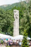 The monument on the central square of the town of Karlovo in Bulgaria Royalty Free Stock Photos