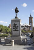 Monument of Cervantes Stock Image