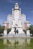 The monument of Cervantes in Madrid, Spain Royalty Free Stock Photos