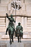 The monument of Cervantes in Madrid, Spain Stock Image