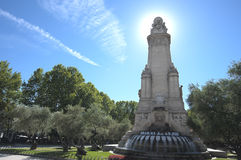 The monument of Cervantes in Madrid, Spain Stock Photo