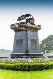 Monument of Chaipattana Low Speed Surface Aerator Model RX-2 des Royalty Free Stock Image