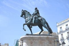 The monument of Charles III in Madrid, Spain Royalty Free Stock Photo
